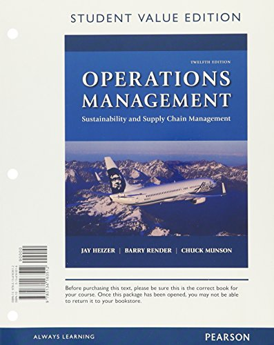 Operations Management: Sustainability and Supply Chain Management,: Heizer, Jay, Render,