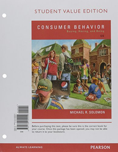 9780134472485: Consumer Behavior: Buying, Having, and Being, Student Value Edition Plus Mymarketinglab with Pearson Etext -- Access Card Package