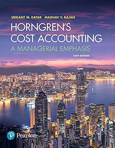 9780134475585: Horngren's Cost Accounting: A Managerial Emphasis
