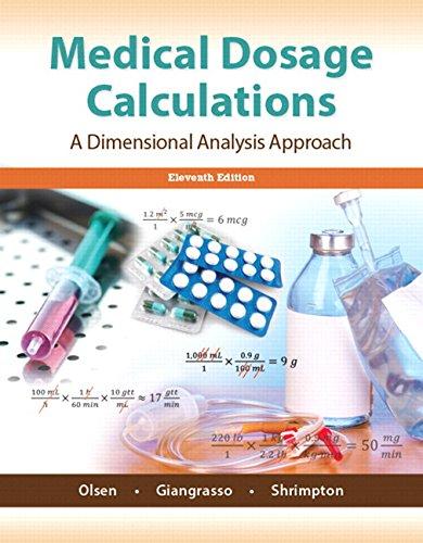 Medical Dosage Calculations Plus Mynursinglab With Pearson: Dolores Shrimpton, Dolores