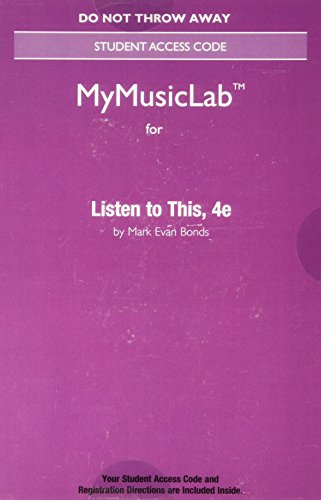 9780134485560: NEW MyMusicLab without Pearson eText -- Access Card -- for Listen to This (4th Edition)
