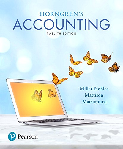 9780134486444: Horngren's Accounting (12th Edition)