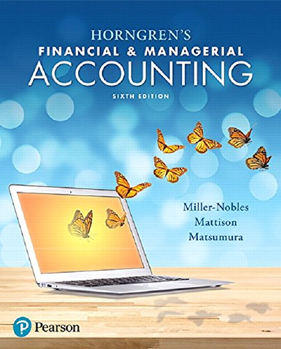 9780134486833: Horngren's Financial & Managerial Accounting (6th Edition)