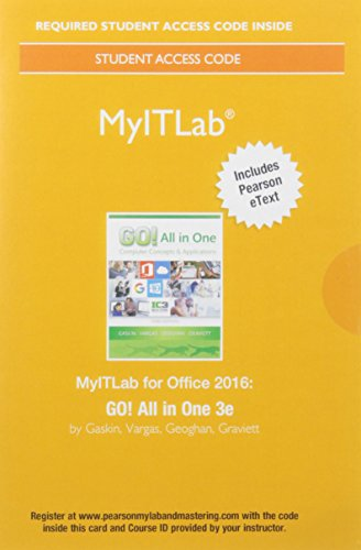 9780134487359: Mylab It with Pearson Etext -- Access Card -- For Go! All in One