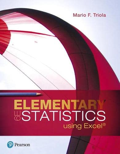 9780134506623: Elementary Statistics Using Excel (6th Edition)