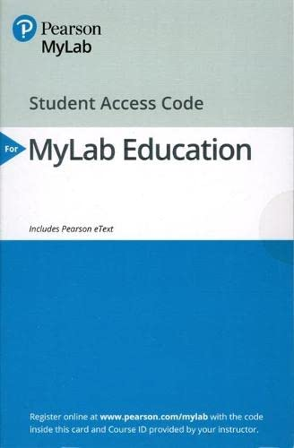 Download MyLab Education with Enhanced Pearson eText -- Access Card -- for Classroom Assessment: Principles and Practice that Enhance Student Learning and Motivation