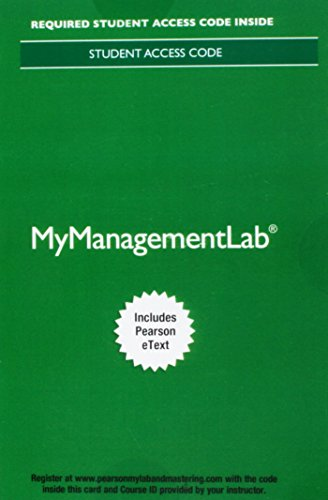 9780134527277: MyManagementLab with Pearson eText -- Access Card -- for Essentials of Organizational Behavior