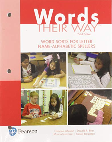 9780134529790: Words Their Way: Word Sorts for Letter Name - Alphabetic Spellers (3rd Edition) (Words Their Way Series)