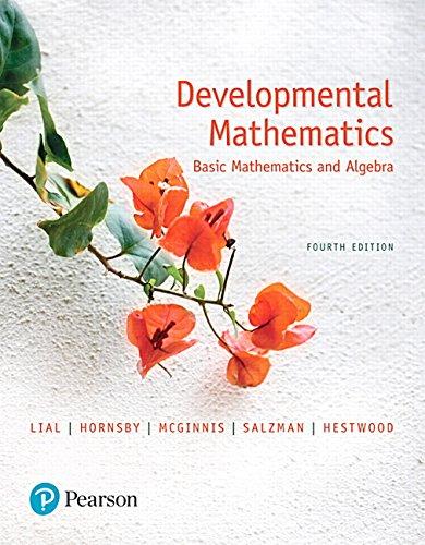 Developmental Mathematics: Basic Mathematics and Algebra (4th Edition): Margaret L. Lial