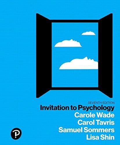 9780134550107: Invitation to Psychology