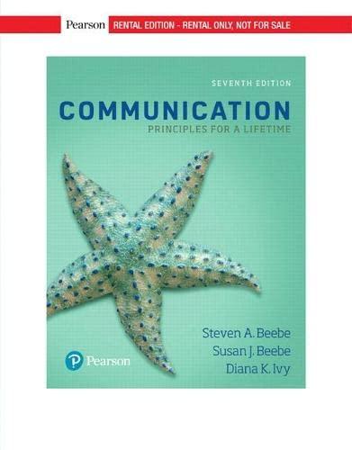 9780134553528: Communication: Principles for a Lifetime