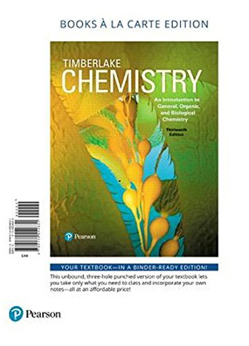 9780134557335: Chemistry: An Introduction to General, Organic, and Biological Chemistry, Books a la Carte Plus Mastering Chemistry with Pearson eText -- Access Card Package (13th Edition)