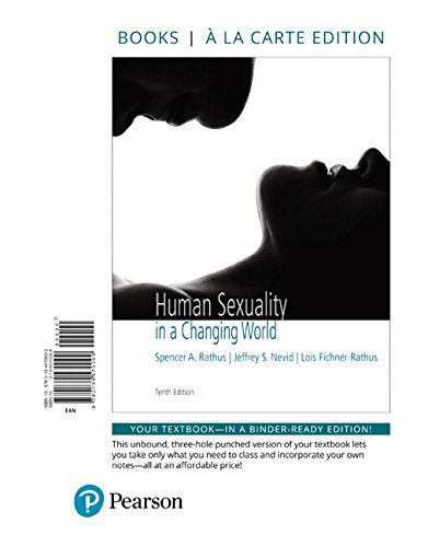 9780134570099 Human Sexuality In A Changing World Books