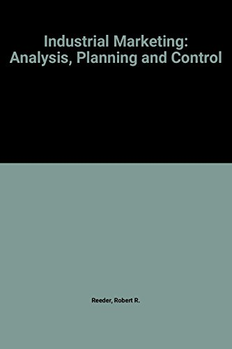 9780134574820: Industrial Marketing: Analysis, Planning and Control