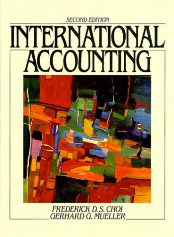 9780134577555: International Accounting