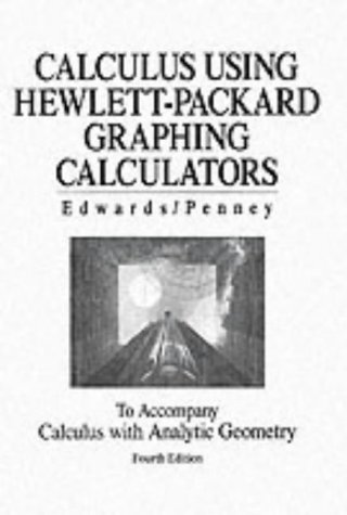 9780134583242: Using Hewlett-Packard Graphing Calculators Manual for Calculus