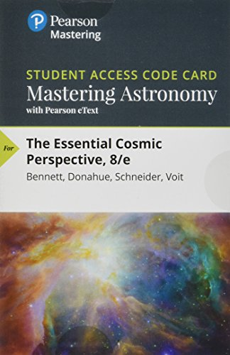 9780134583549: The MasteringAstronomy with Pearson eText -- Standalone Access Card -- for Essential Cosmic Perspective (8th Edition)
