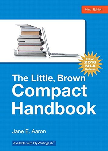 9780134586342: Little, Brown, Compact Handbook, The, MLA Update Edition (9th Edition)