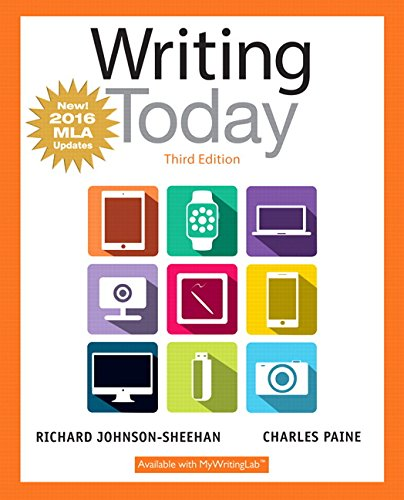 Download Writing Today, MLA Update Edition (3rd Edition)