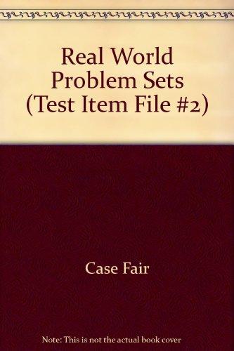 9780134587387: Real World Problem Sets (Test Item File #2)