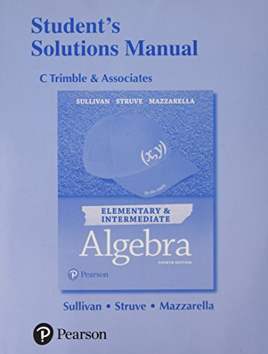 9780134592336: Student Solutions Manual for Elementary & Intermediate Algebra