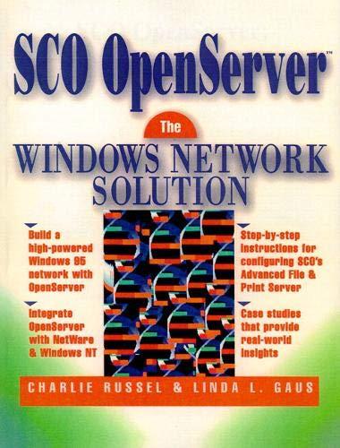 9780134594217: SCO OpenServer: The Windows Network Solution