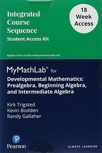 Developmental Mathematics Format: Access Code Card: Trigsted, Kirk^Bodden, Kevin^Gallaher, Randall
