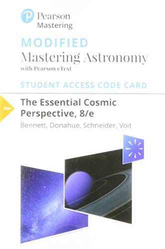 9780134602080: The Modified MasteringAstronomy with Pearson eText -- Standalone Access Card -- for Essential Cosmic Perspective (8th Edition)
