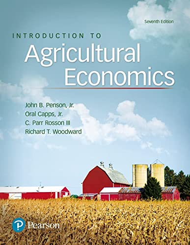 Introduction to Agricultural Economics Format: Hardcover: Penson, John B.,
