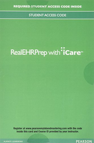 RealEHRPrep with iCare -- Access Card (6 month access) Format: Access Code Card: Pearson US^iCare