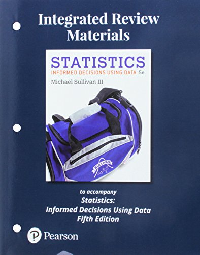 Worksheets for Statistics: Informed Decisions Using Data: Sullivan III, Michael