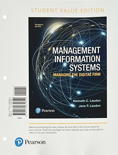 management information systems managing the digital firm Management information systems: managing the digital firm plus mylab mis with pearson etext -- access card package kenneth c laudon, jane p laudon.