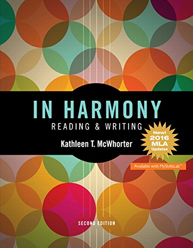 9780134644868: In Harmony: Reading and Writing, MLA Update Edition (2nd Edition)