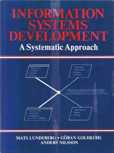 9780134646770: Information Systems Development: A Systematic Approach (Prentice-Hall advances in computing science and technology series)