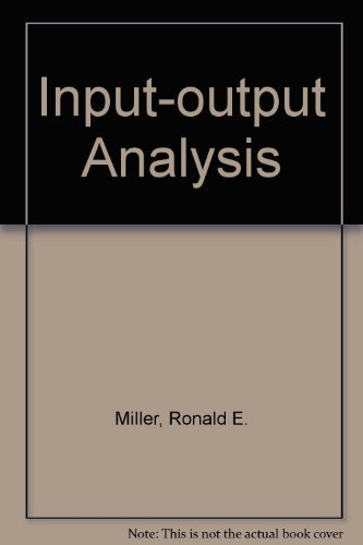 9780134667157: Input-Output Analysis: Foundations and Extentions
