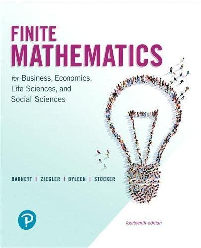9780134675985: Finite Mathematics for Business, Economics, Life Sciences, and Social Sciences (14th Edition)