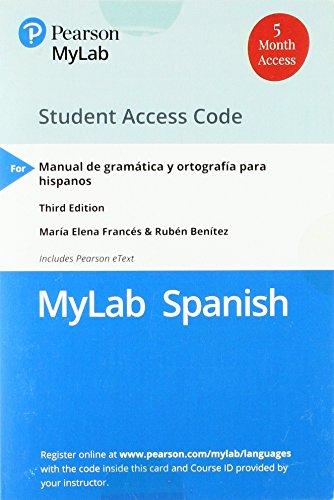 MyLab Spanish with Pearson eText -- Access: Francés, María Elena;