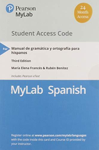 MyLab Spanish with Pearson eText -- Access: María Elena Francés;