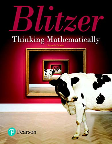 9780134683713: Thinking Mathematically