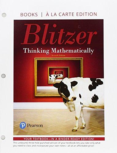 9780134686516: Thinking Mathematically, Books a la Carte Edition