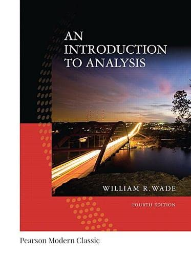 9780134707624: An Introduction to Analysis (Classic Version) (Pearson Modern Classics)