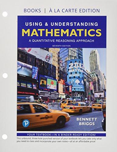 9780134716015: Using & Understanding Mathematics, Books a la Carte edition
