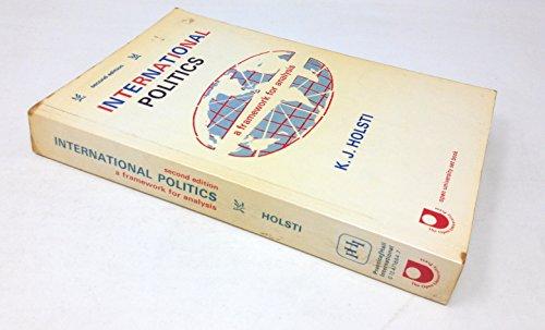 International Politics: A Framework for Analysis (Set: Holsti, K. J.