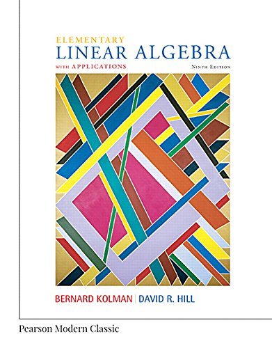 9780134718538: Elementary Linear Algebra with Applications (Classic Version) (Pearson Modern Classics)