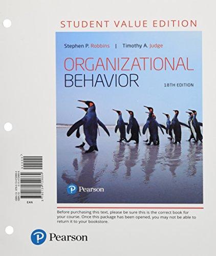 9780134729664: Organizational Behavior, Student Value Edition