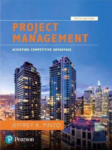 9780134730332: Project Management: Achieving Competitive Advantage