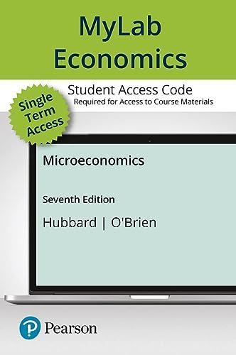 Mylab Economics with Pearson Etext -- Access: R. Glenn Hubbard,