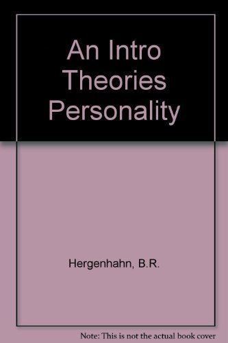 9780134743622: An Intro Theories Personality