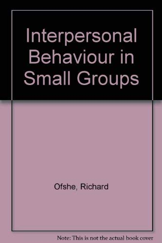 9780134750200: Interpersonal Behaviour in Small Groups