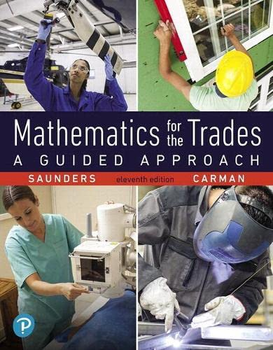 9780134756967: Mathematics for the Trades: A Guided Approach (11th Edition) (What's New in Trade Math)